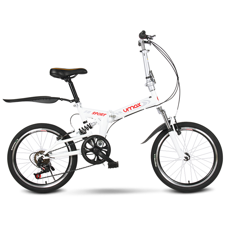 Folding Bicycle 20 Inch Adult Variable Speed Shock Absorption Ultra Light Student Men And Women Bike
