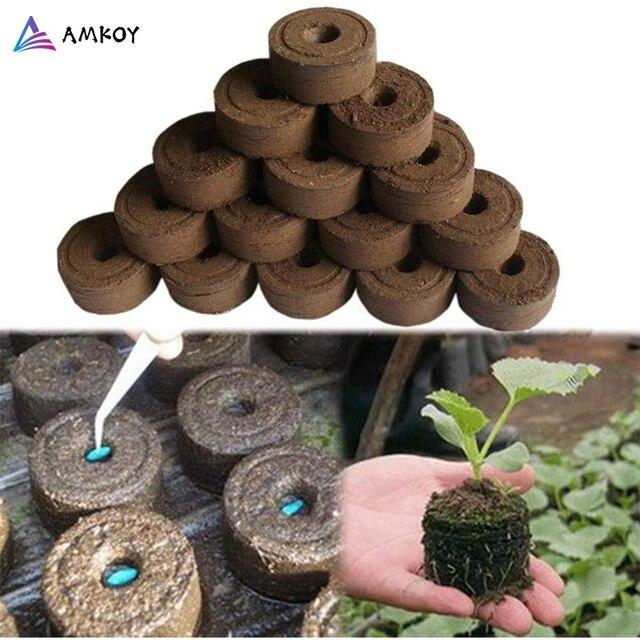AMKOY Bloque de suelo de plántulas de 30mm Jiffy, clavijas de arranque, arranque de semillas, profesional, para jardín, evita el bloqueo de raíces
