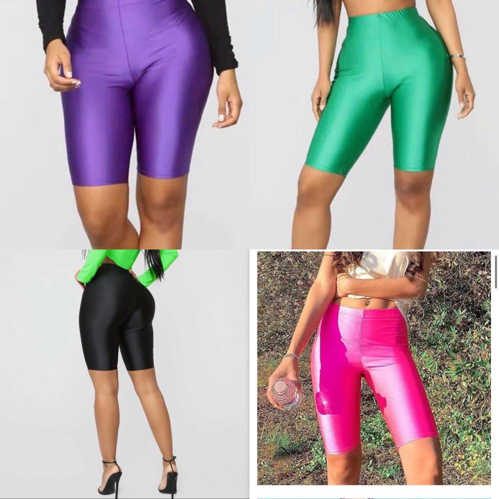 High Waist Sports Shorts Women Biker Shorts Summer Skinny Fitness Solid Bodycon Cycling Bottoms 5