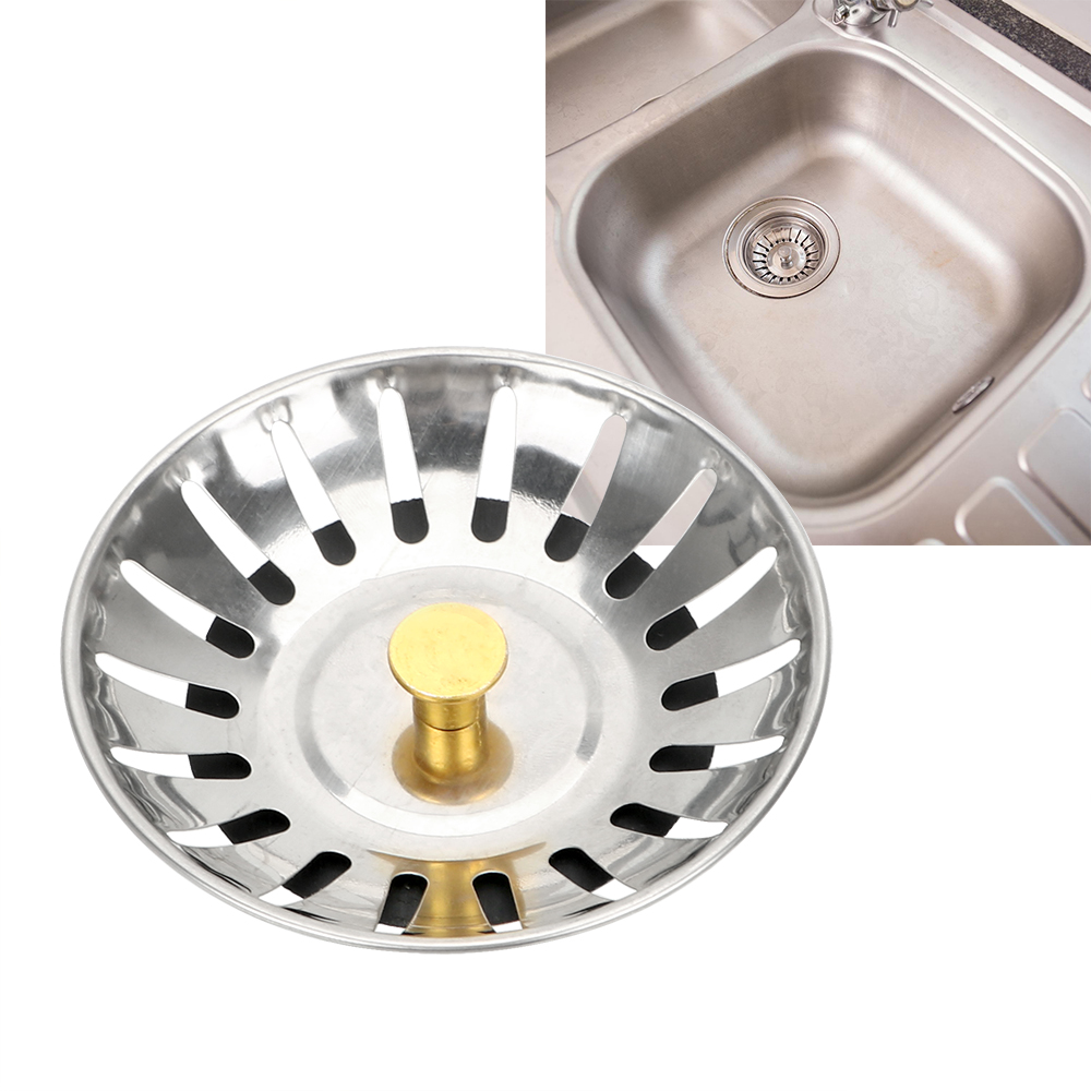 Waste Catcher Drain Kitchen Accessories Stainless Steel Waste Plug Kitchen Sink Strainer Stopper Bathroom Hair Catcher 1PC