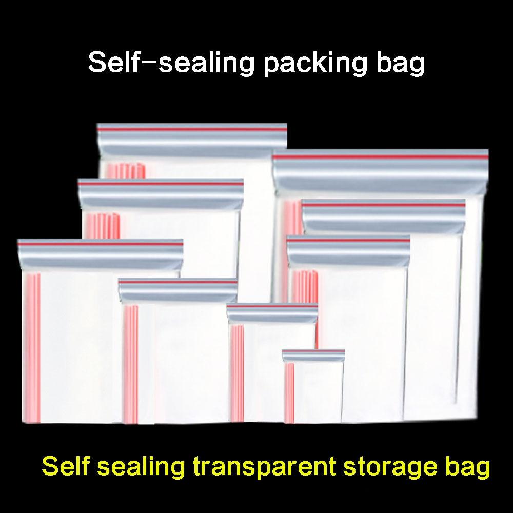 Самозапечатывающийся карман, маленький пластиковый пакет на молнии, можно многократно закрывать, прозрачный пакет для хранения, сохраняющ...