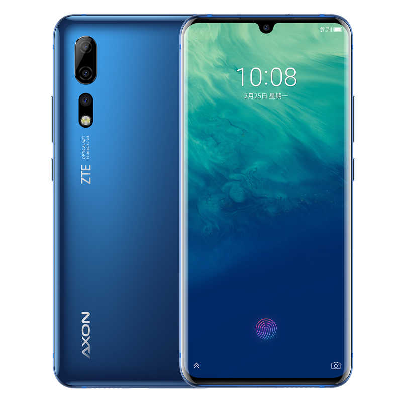 Lager Original ZTE Axon 10 Pro Smart Telefon Snapdragon 855 6,47 Zoll IPS 2340x1080 12GB RAM 256GB ROM 48.0MP Fingerprit handy