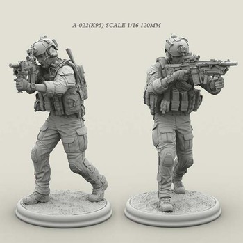 1/16 Resin Soldier Figure Kits Special forces Model  Colorless And Self-assembled A-022 (k59) 1 24 resin kits tokyo beauty girl soldier series resin soldier 75mm self assembled a 034