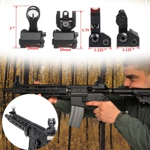 цена на Flip Up Front Rear Sight AR rear sight Tactical Aluminum Alloy Front and Rear Iron Sight for Picatinny Rail Hunting Airsoft