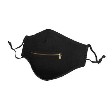 Unisex Προστατευτική Μάσκα Προσώπου με Φερμουάρ Επαναχρησιμοποιούμενη Μάσκα Προστασίας με Φερμουάρ στο Στόμα