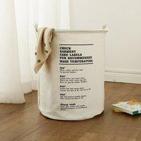 Cesta de roupa explosiva nordic algodão e linho cesta de armazenamento em casa lona dobrável lavanderia|Bolsas de armazenamento dobráveis| |  -