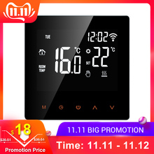 Wi-Fi Smart Thermostat Digital Temperature Controller APP Control LCD Touch Screen Programmable Electric Heating Thermostat