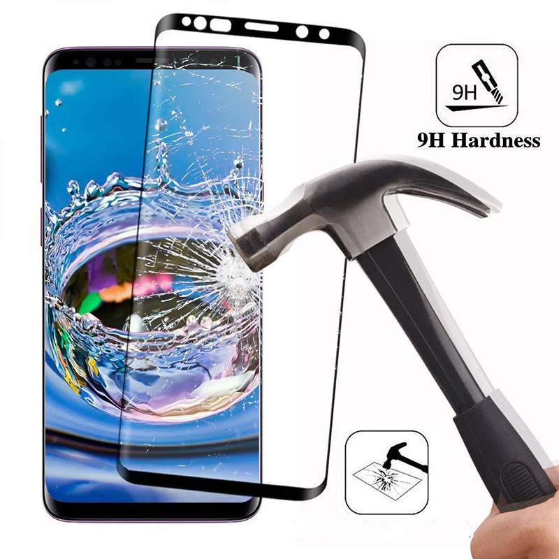 9D <font><b>Full</b></font> <font><b>Glue</b></font> Curved <font><b>Tempered</b></font> <font><b>Glass</b></font> For <font><b>Samsung</b></font> <font><b>Galaxy</b></font> <font><b>Note</b></font> 8 <font><b>9</b></font> S9 S8 Plus Screen Protector Front Film For <font><b>Galaxy</b></font> S6 S7 Edge image