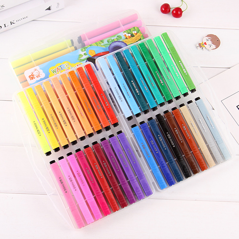 Washable Brush Pen Set Soft Tip Painting Calligraphy Pen Lettering Sketching Coloring Children Watercolor Drawing Marker Pen Set