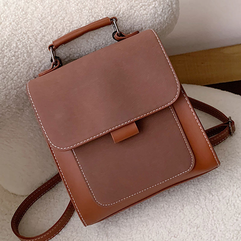 Women Fashion Backpack Female High Quality Scrub Leather Book School Bags For Teenage Girls Sac A Dos Travel Rucksack Mochilas