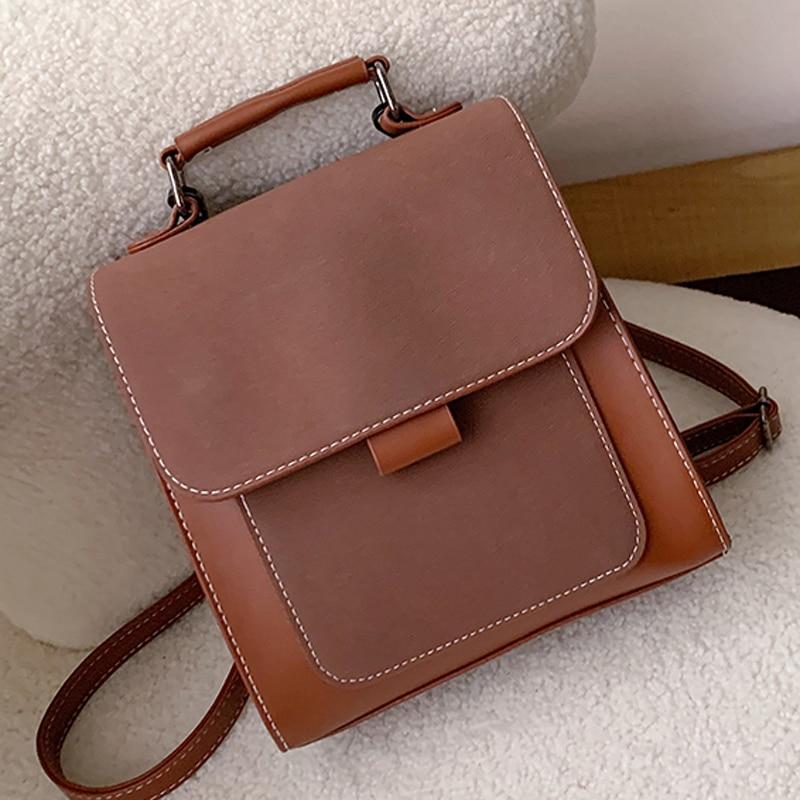 Women Fashion Backpack Female High Quality Scrub Leather Book School Bags For Teenage Girls Sac A Dos Travel Rucksack Mochilas