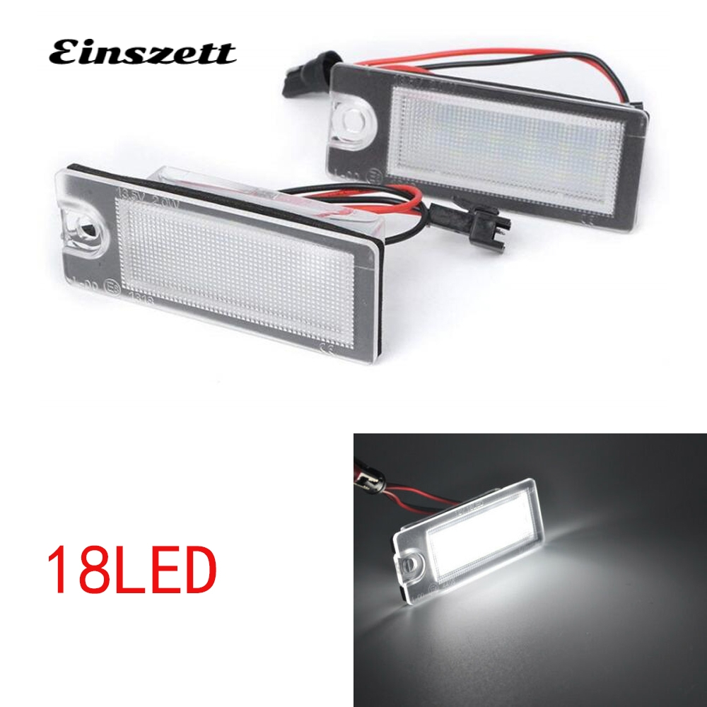 1Pair Car LED License Plate <font><b>Light</b></font> Bulbs For <font><b>Volvo</b></font> V70 CX70 S60 <font><b>S80</b></font> XC90 18LED Error Free <font><b>Rear</b></font> Lamp image