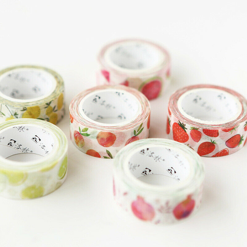 1 Pcs Fruits Style Washi Sticker Decor Roll Paper Masking Adhesive Tape