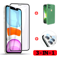 3 in 1 Tempered Glass For iphone 11 Screen Protector Glass iphone11 Pro Max Case sticker Camera Protector Film Glass i phone 11 3 in 1 cristal templado for iphone 11 screen protector sticker glass on iphone 11 pro max clear back film for i phone 11 11pro