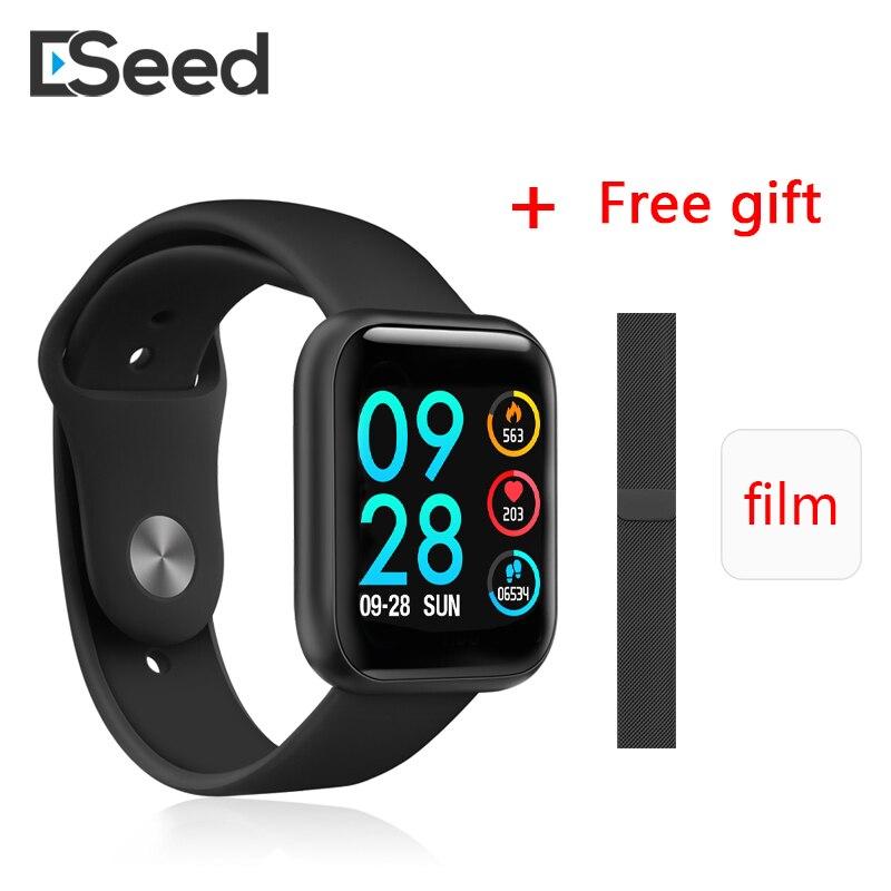 ESEED P80 Smart Watch Men Women IP68 Waterproof Full Touch Screen Smartwatch Heart Rate Monitor For Samsuang Xiaomi Huawei Watch
