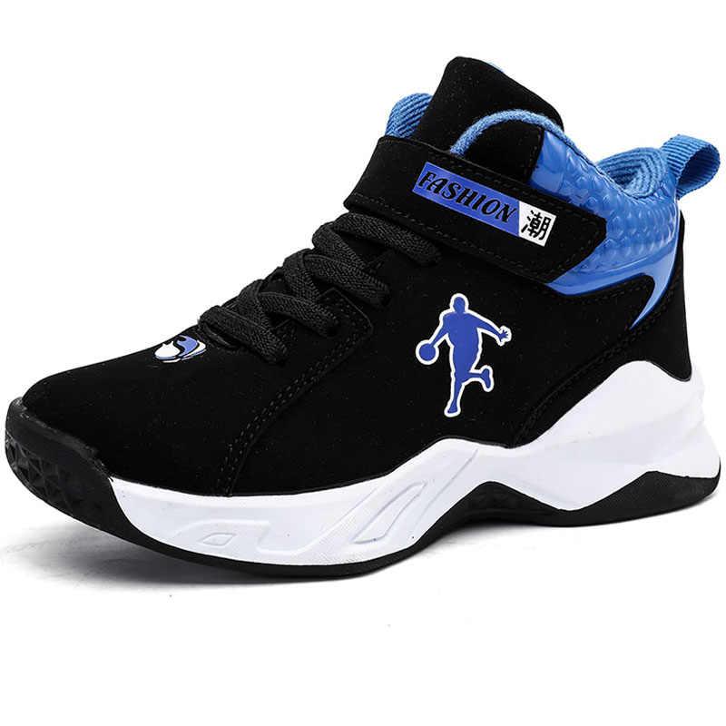 Calzado de baloncesto de marca para niño, zapatillas deportivas para niños, suela gruesa de alta calidad, suela antideslizante, zapatillas deportivas para niños de primavera, zapato de cesta para niño