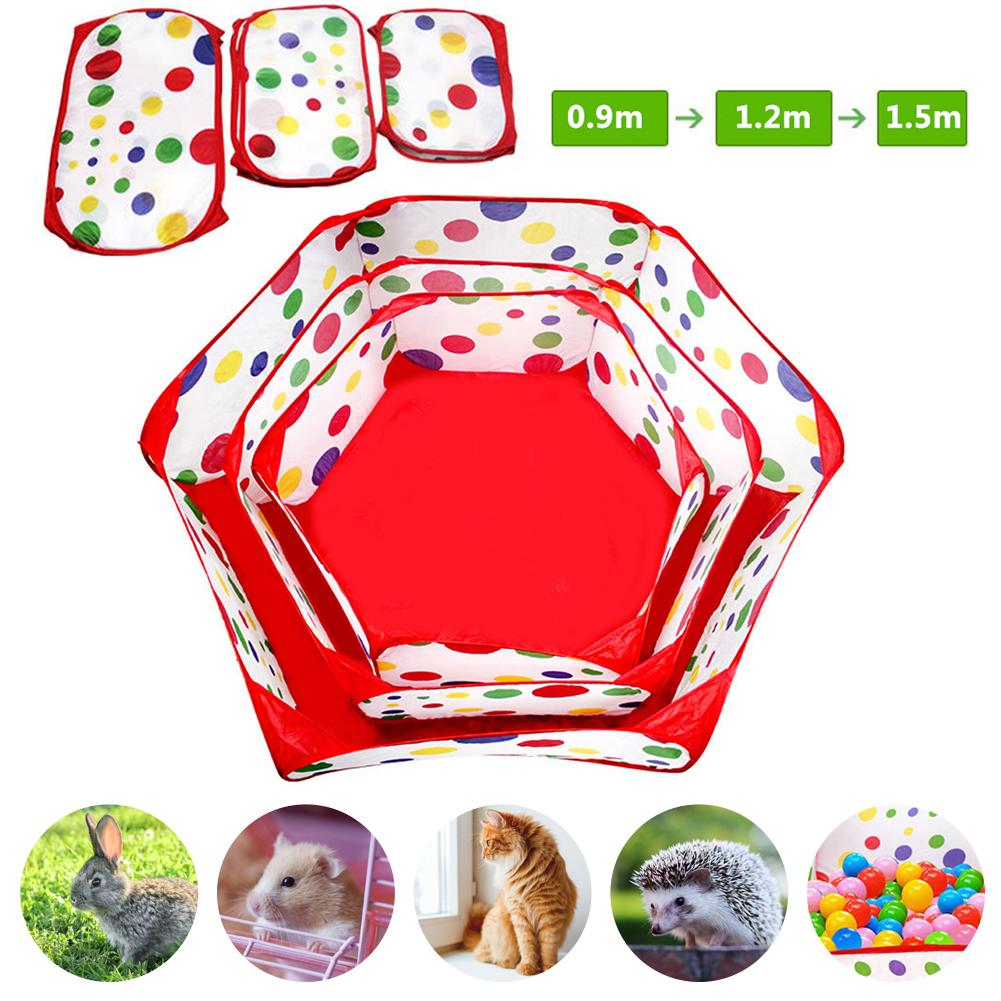 Portable Pet Playpen Small Animals Cage Tent Outdoor Indoor Children's Game Sports Folding Fence Hamster Rabbit Pet Cage Tent