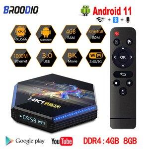Image 1 - صندوق التلفزيون أندرويد 11.0 RK3566 رباعية النواة 2.4G 5G واي فاي HK1 RBOX R2 الذكية صندوق التلفزيون 4GB 32GB 64GB 8K 4K ميديا بلاير جوجل مجموعة صندوق