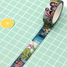 2шт/много Боба японский маскирование Васи Лента Декоративная клейкая ежедневный справочник Дневник DIY стикер н0