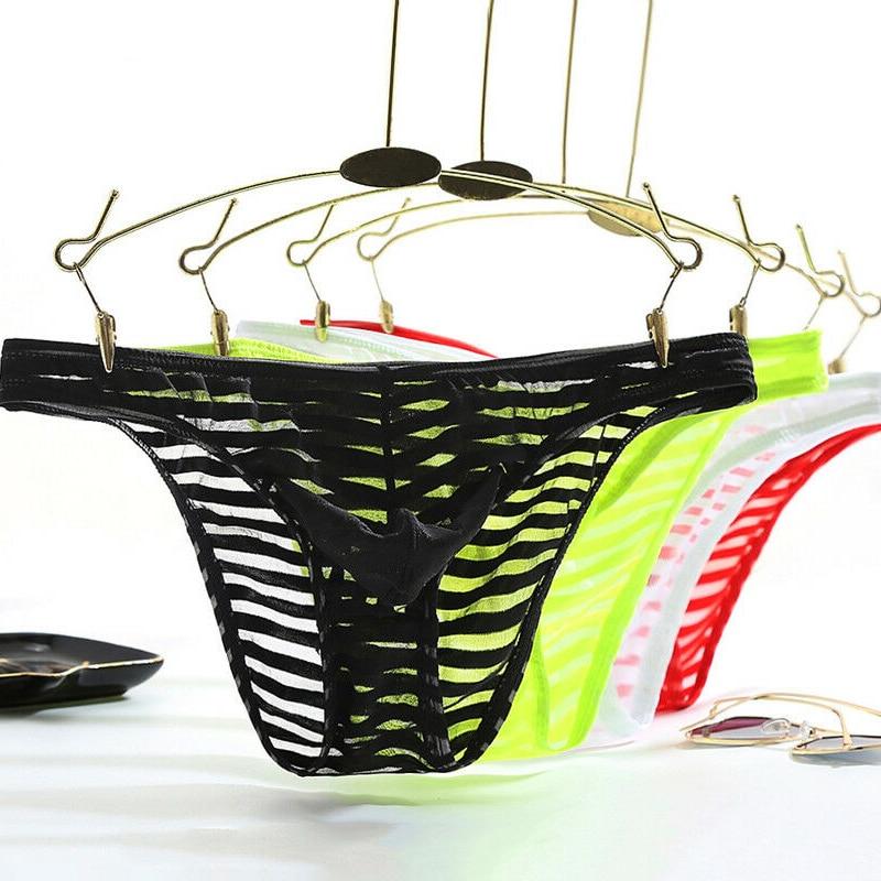 Men Briefs Low-rise Bulge Pouch Thong T-back G-string Bikini Underwear Underpants Sexy New Hot Sale