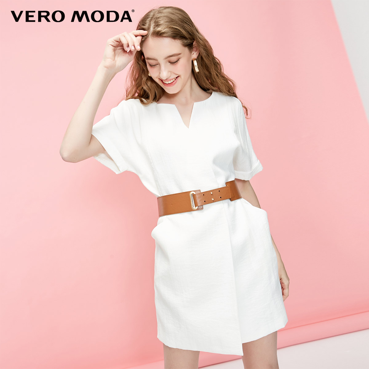 Vero Moda Women's OL Style V-neckline Straight Fit Dress | 31926Z578