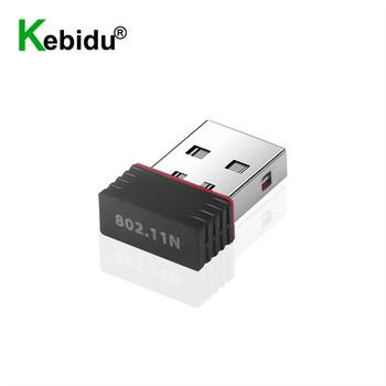 150 mb s Adapter USB Wifi Ralink RT5370 bezprzewodowy dostęp do internetu Adapter 2 4Ghz antena USB Ethernet PC Adapter Wi-Fi Lan Adapter Wifi odbiornik Wi-Fi tanie i dobre opinie kebidu 150 mbps CN (pochodzenie) Zewnętrzny wireless Laptop 802 11n USB2 0 600 Mb s 150M WIFI Wireless Adapter
