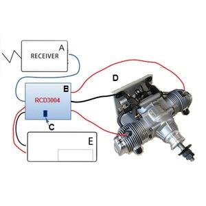 Image 4 - Controlador de enchufe de Nitro de dos cilindros con Control remoto, interruptor de encendido RCD para modelo RC, piezas de bricolaje