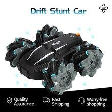 2021 novo 360 ° girando controle remoto rc carro 4wd 2.4g drift dublê carro de alta velocidade escalada fora-estrada de corrida carro brinquedo crianças presente