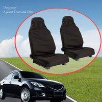 Capa de poliéster dobrável para assento de carro  proteção dobrável  universal  lavável  durável  para assento de carro  com bolsa de armazenamento  anti-sujeira