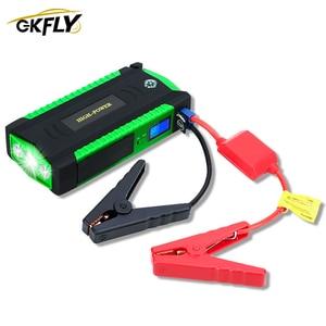 Image 1 - Gkfly車のジャンプスターター緊急始動装置ケーブル12ポータブル電源銀行カーbattry充電器ミニブースター600Aバスター