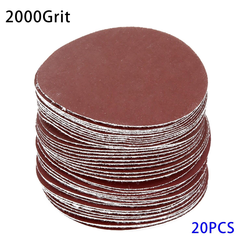 20pcs Polisher Sandpaper 75mm 3inches 40 3000 Grit Woodworking Sander Discs Sanding Polishing Sander Pads