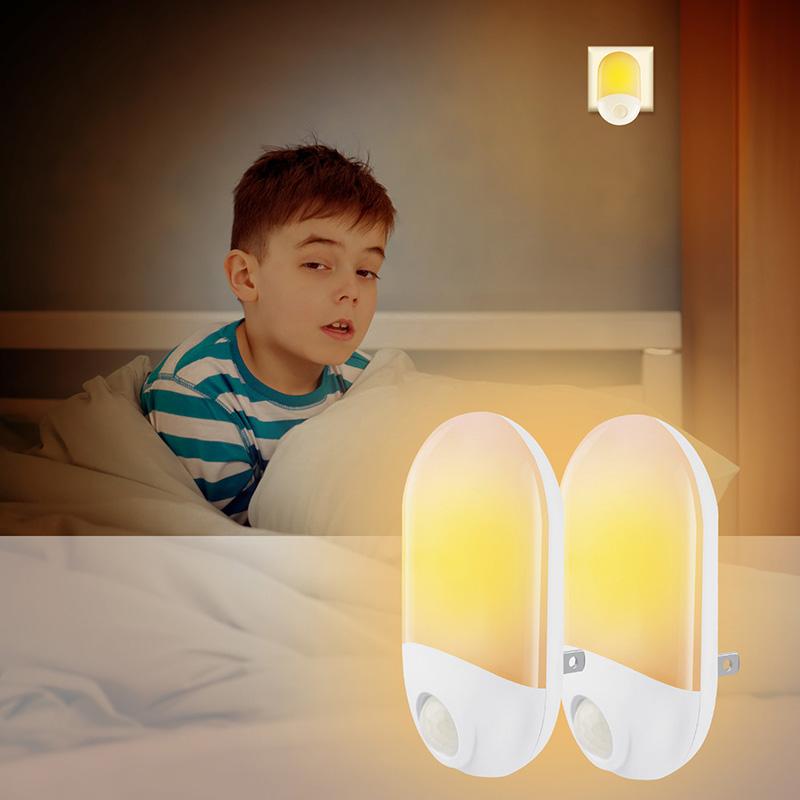 Socket Baby Night Light with Twilight Sensor Automatic On/Off Light for Nursery Bathroom VJ-Drop