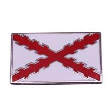 Bandeira do império espanhol emblema cruz de borgonha pino decoração nacional