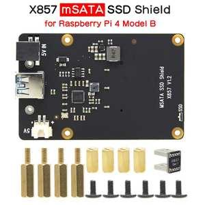 Expansion-Board Usb3.1-Shield Msata Ssd Raspberry Pi 4-Model V1.2 X857 for 4-B Storage