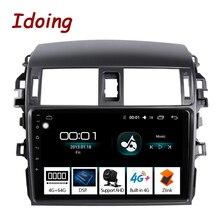 """Idoing 9 """"4G   64G için Toyota Corolla 10 E140 E150 2006-2013 araba radyo multimedya video oynatıcı navigasyon gps Android hiçbir 2 din"""