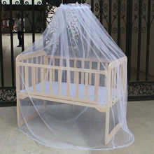 Summer Baby Bed Mosquito Mesh Dome Curtain Net Toddler Crib Cot Canopy Cradle Bed Mesh Bedding Yurt Netting For Cradle Insect(China)
