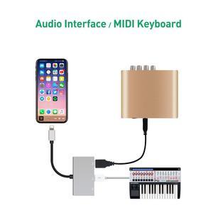 Image 5 - Cable adaptador hembra de doble puerto USB con interfaz de alimentación de 8 pines, sincronización de carga, transferencia de datos para iOS 9 A 12, iPhone, iPad Mini