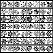 56 Pack Mandala Dot Schilderen Templates Stencils Perfect Voor Diy Rock Schilderen Art Projecten 3.6X3.6 Inch 9X9 Cm(China)