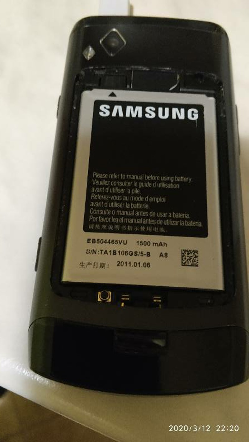 SAMSUNG Original Battery EB504465VU For SCH-W799 W609 I8910 / U I6410 I5700 I5800 I5801 I8320 I8700 GT-S8500 S8530 B6520 B7300C