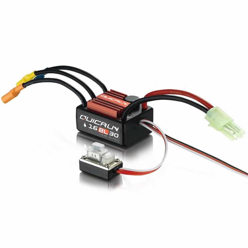 Hobbywing Quicrun sin escobillas 30A sin sensor ESC WP-16BL30 para 1/16 o 1/18 control remoto coche de carreras violentas todoterreno