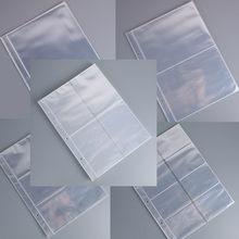 50 páginas 1, 2, 3, 4, 8 bolsillos de tarjetas para álbumes de fotos página para mágico moneda billete tablero de colección de tarjetas de juego estrella tarjeta postal