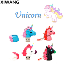 цена на Usb Flash Drive 128gb Cartoon Unicorn Series 4G 8G 16G Pen drive 32G pendrive 64GB Cute Horse USB Memory Stick Best Fashion Gift