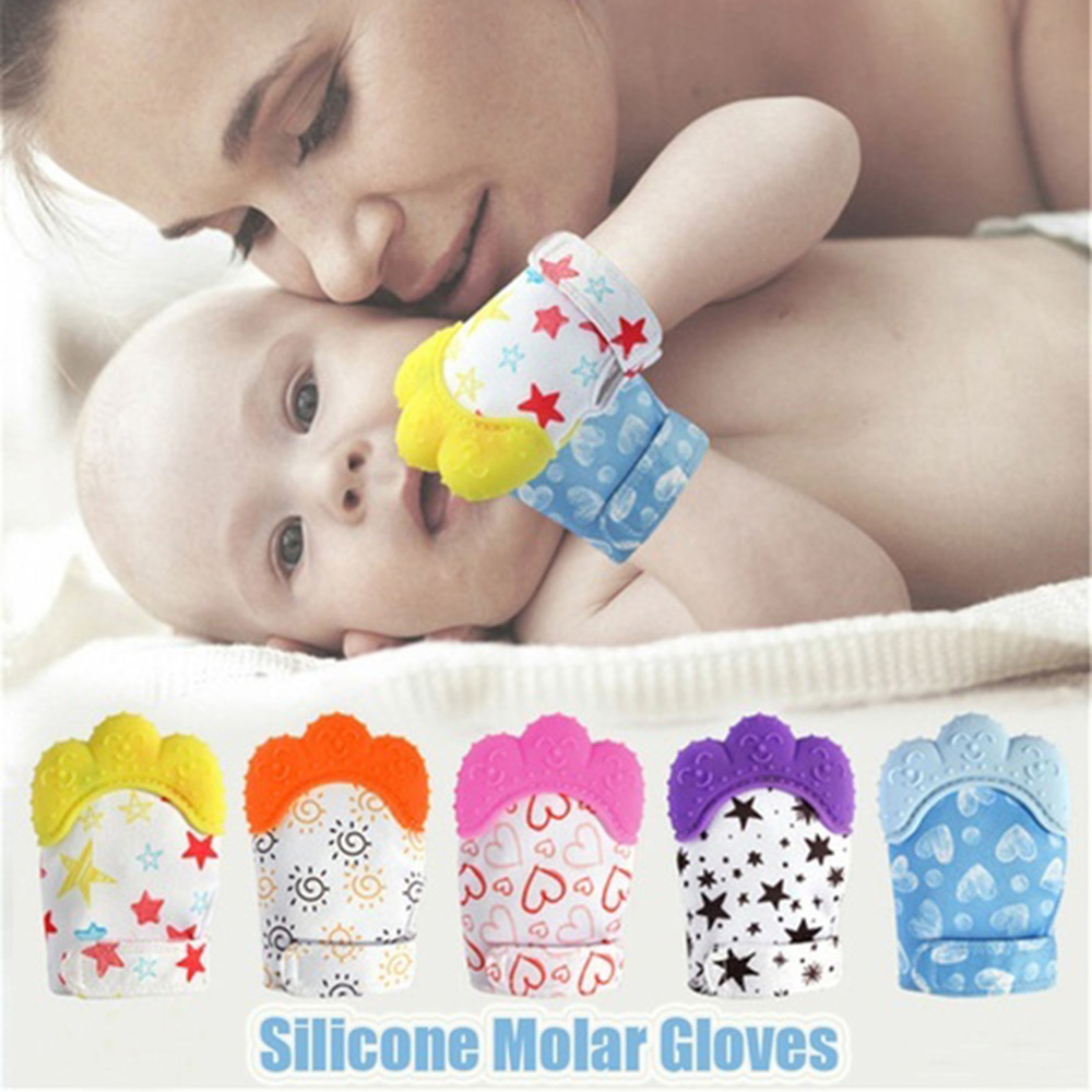Baby Infant Silicone Molar Mitten Teething Gloves Nursing Toddler Pacifier Chain Nipples Anti-bite Stop Sucking Thumb Toy D30