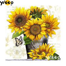 Full Square/Round Drill 5D diamond embroidery sunflowers diamond Painting Rhinestones mosaic Cross stitch Decor FX0177 стойка для тв sonorous neo 95 c slv