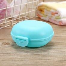 1 pçs conveniente caixa de sabão verde portátil caixa de sabão viagem caminhadas titular recipiente caixa de sabão plástico dispensador sabão rack