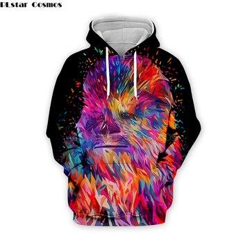 color Star Wars Chewbacca by Alessandro Pautasso Artist Tees 3D Print hoodies/Sweatshirt Men Women long sleeve streetwear