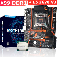 X99 Motherboad Set Met Xeon E5 2678 V3 Voor Intel DDR3 Usb 3.0 Sata Iii Computer Mianboard Met Cpu Set(China)