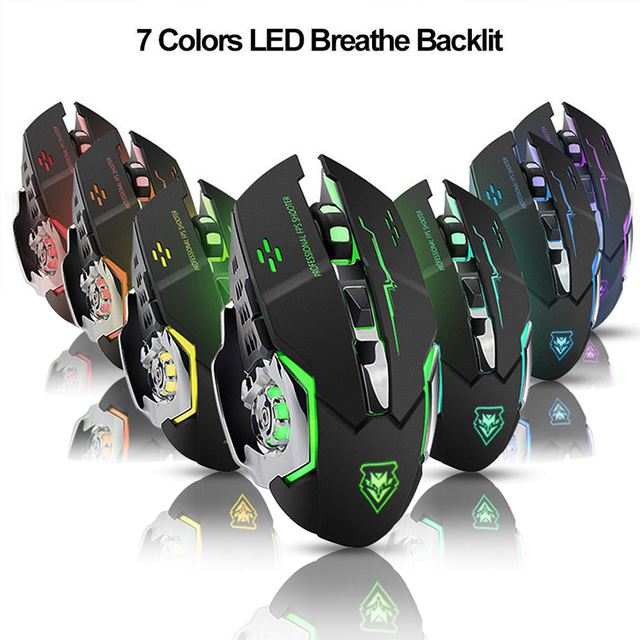 Wireless mouse Rechargeable Gaming Mouse Mute Luminous  2.4Ghz Opto-electronic Computer Mouse Accessories Desktop laptop mouse 3