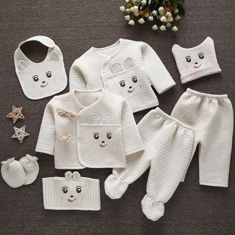 (8 шт./компл.) Одежда для младенцев 0-3 мес., костюмы для новорожденных, комплекты одежды для малышей, Детский костюм для мальчиков и девочек, те...