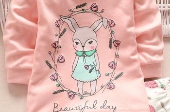 Autumn Winter 2021 Baby Boy Girls Clothes Cotton Girl Clothing Sets Cartoon Long-Sleeved T-Shirt+Pants Infant Clothes 2pcs Suit 5